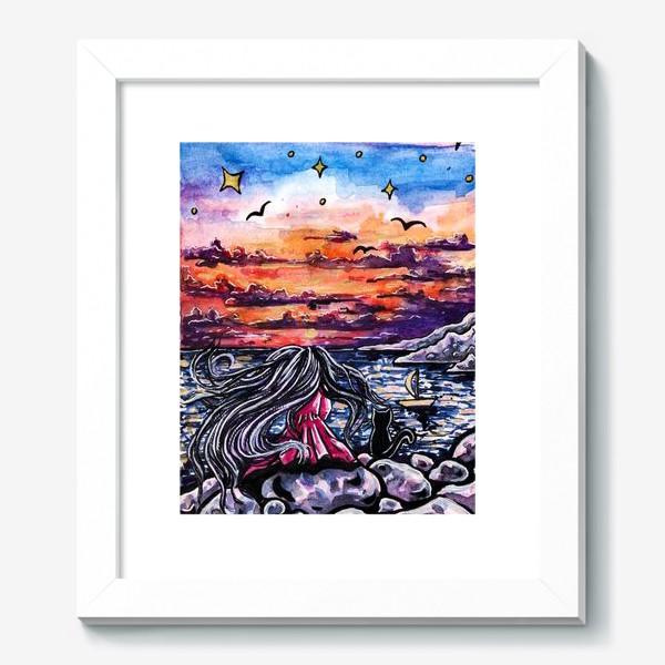 Картина «Девушка на закате»