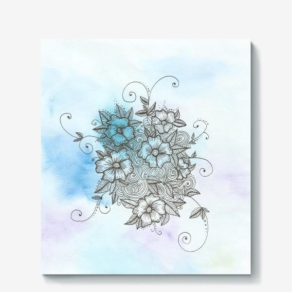 Холст «Цветы (зеатлинг)»