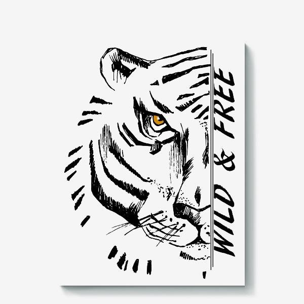 Холст «Тигр Wild and free»