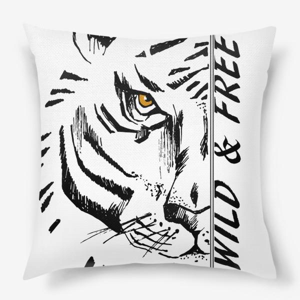 Подушка «Тигр Wild and free»