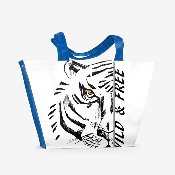 Пляжная сумка «Тигр Wild and free»