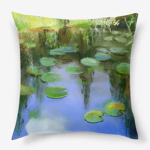 Подушка «Отражение в пруду»