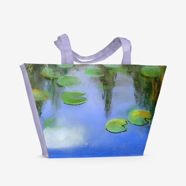 Пляжная сумка «Отражение в пруду»