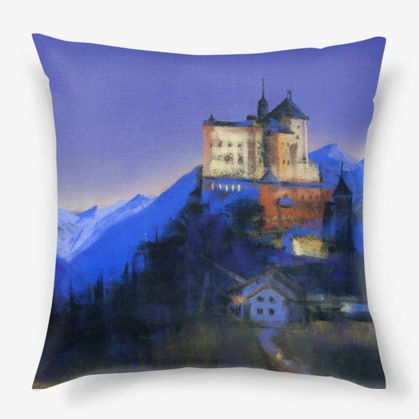 Подушка «Замок Тарасп. Ночь»