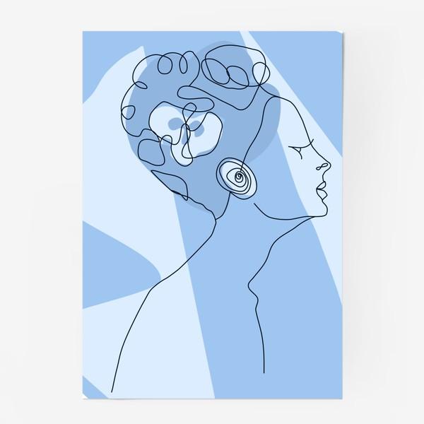 Постер «Весенний образ. Девушка в голубом. 8 марта.»