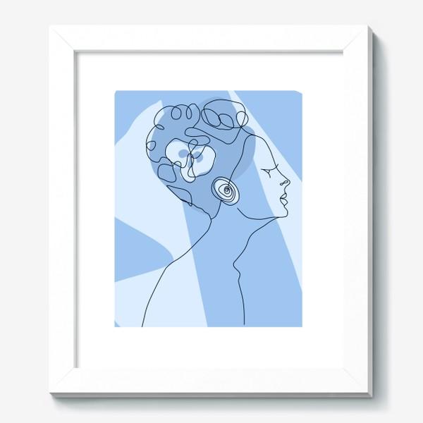 Картина «Весенний образ. Девушка в голубом. 8 марта.»