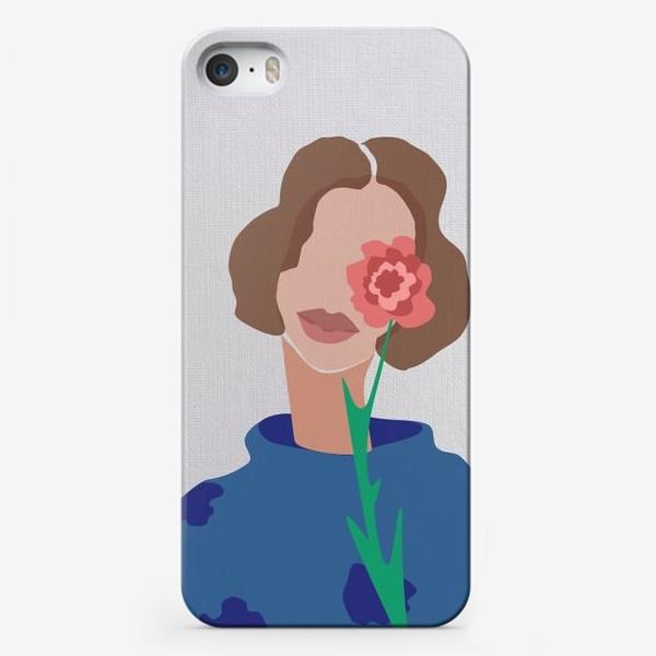 Чехол iPhone «Весенний образ. Девушка с цветком. 8 марта.»