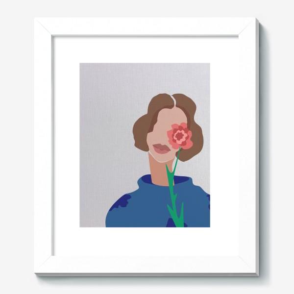 Картина «Весенний образ. Девушка с цветком. 8 марта.»