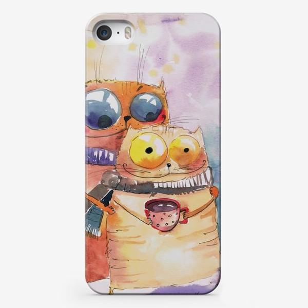 Чехол iPhone «Теплые коты»