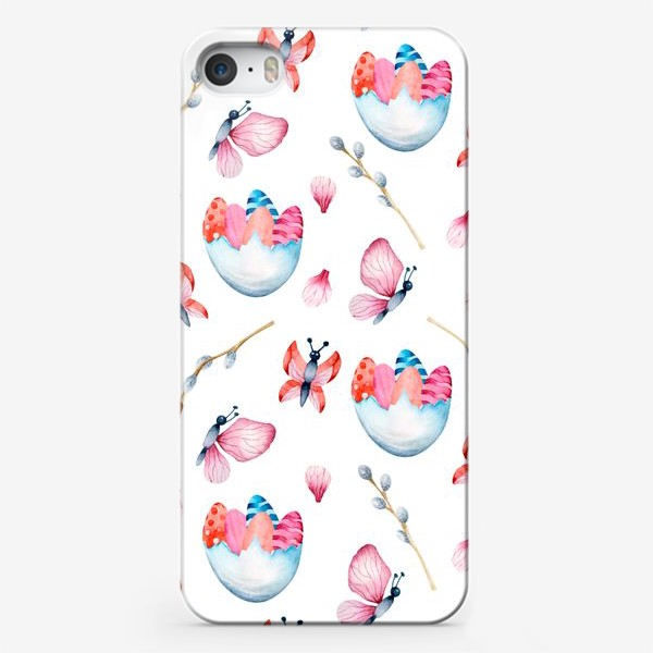 Чехол iPhone «Весенние бабочки и Пасха»