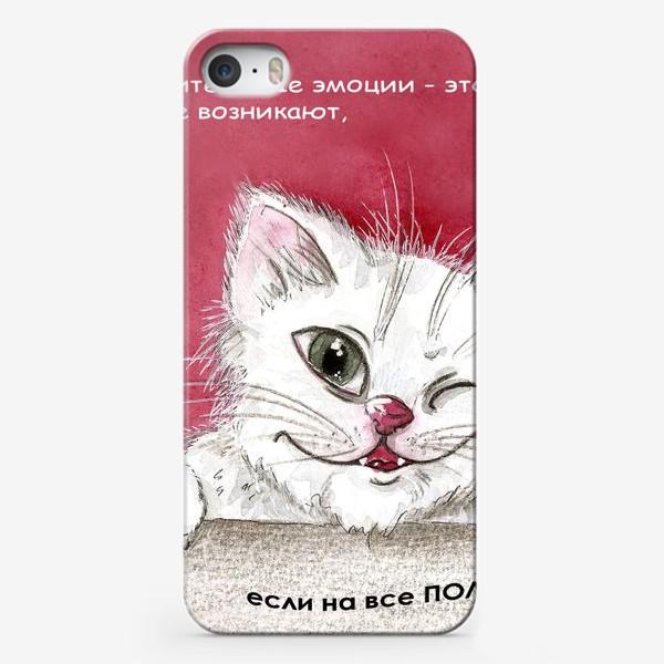 Чехол iPhone «Шкодливый котик»