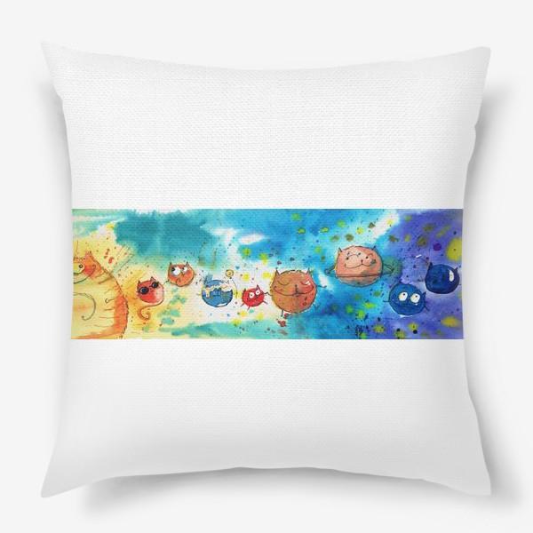 Подушка «Кошачья Галактика »