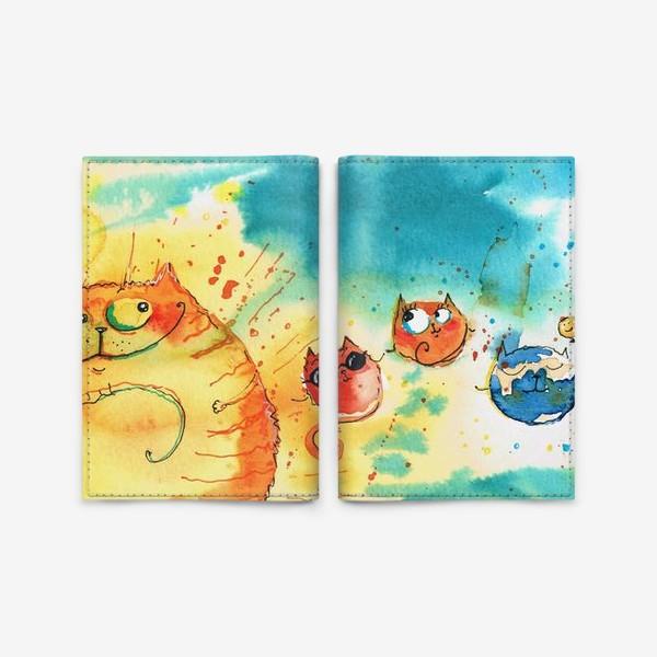 Обложка для паспорта «Кошачья Галактика »