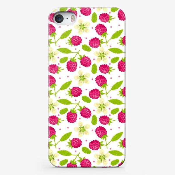 Чехол iPhone «Сочный малиновый паттерн»