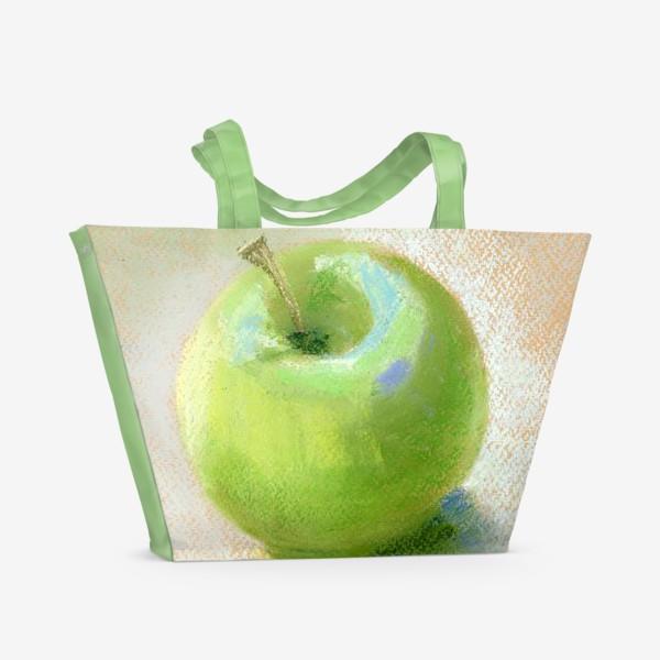 Пляжная сумка «Яблоко зеленое Гренни смит»