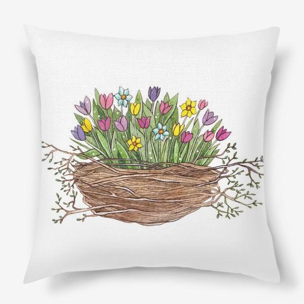 Подушка «Весенний букет»