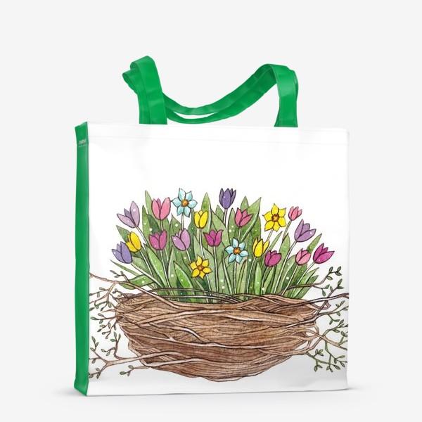 Сумка-шоппер «Весенний букет»