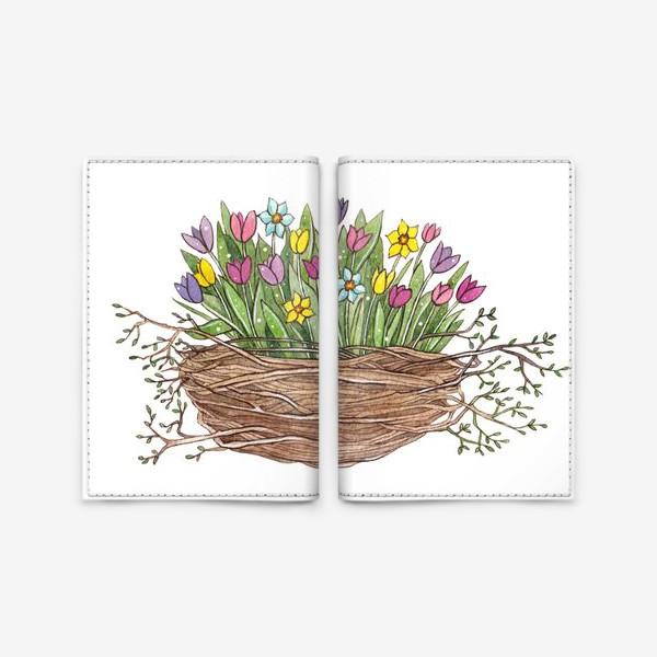Обложка для паспорта «Весенний букет»