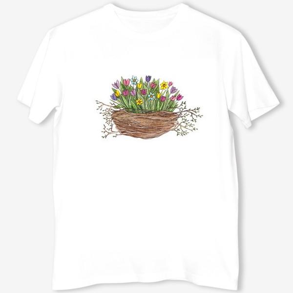 Футболка «Весенний букет»
