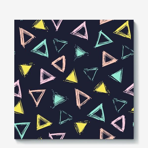 Холст «Цветные треугольники»