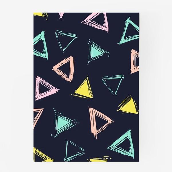 Постер «Цветные треугольники»
