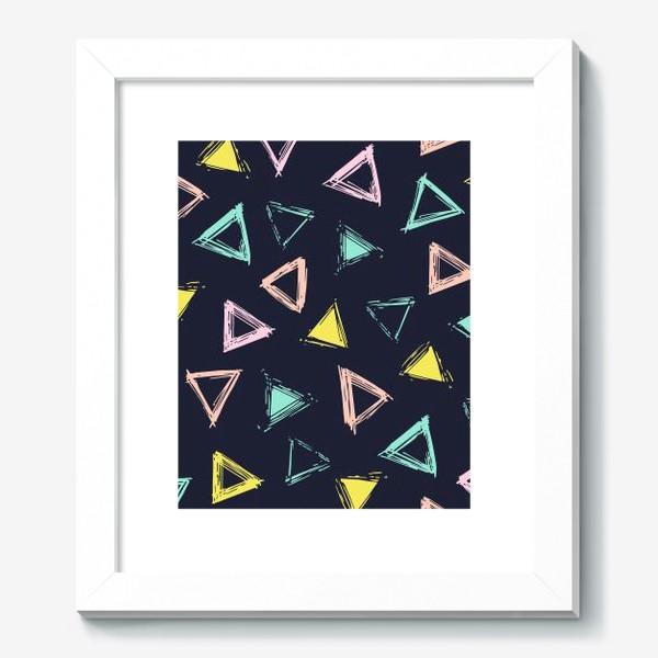 Картина «Цветные треугольники»