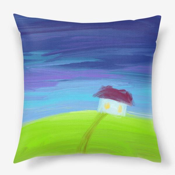 Подушка «Дом вдали»