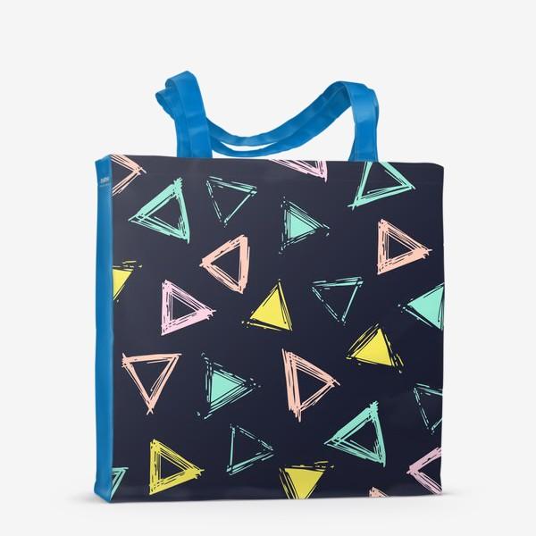 Сумка-шоппер «Цветные треугольники»