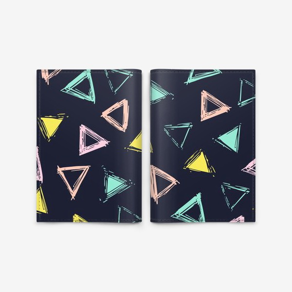 Обложка для паспорта «Цветные треугольники»