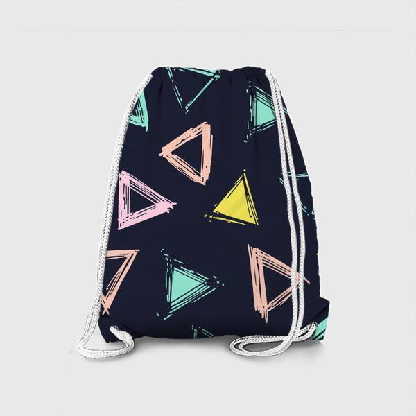 Рюкзак «Цветные треугольники»