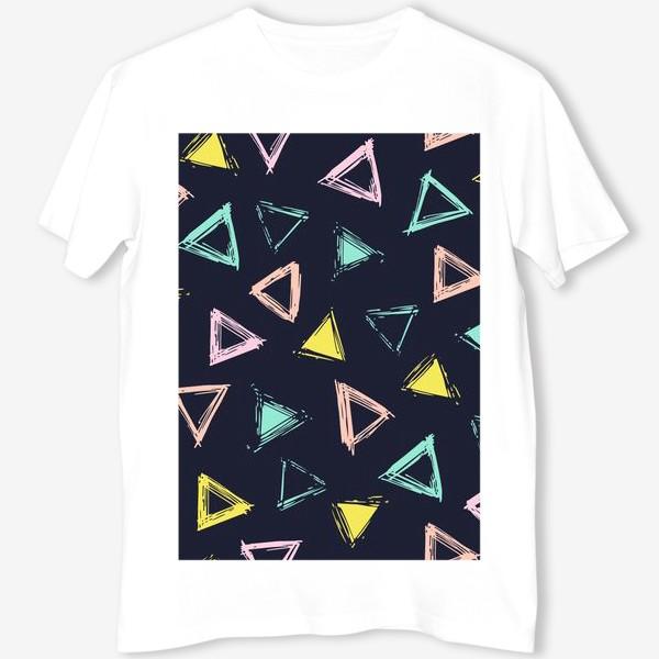 Футболка «Цветные треугольники»