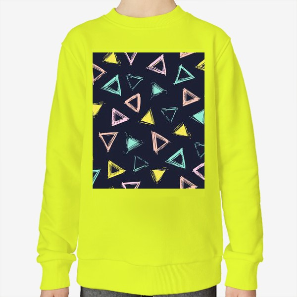 Свитшот «Цветные треугольники»