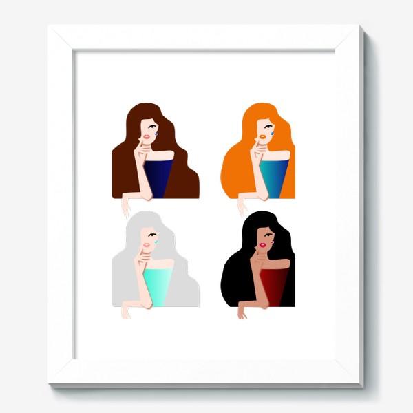 Картина «Весеннее настроение. Девушки бывают разные. 8 марта. Международный женский день.»