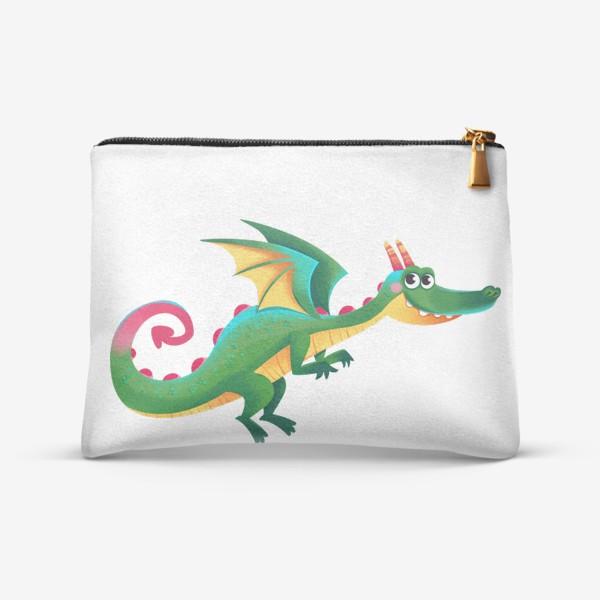 Косметичка «Зеленый сказочный дракон»