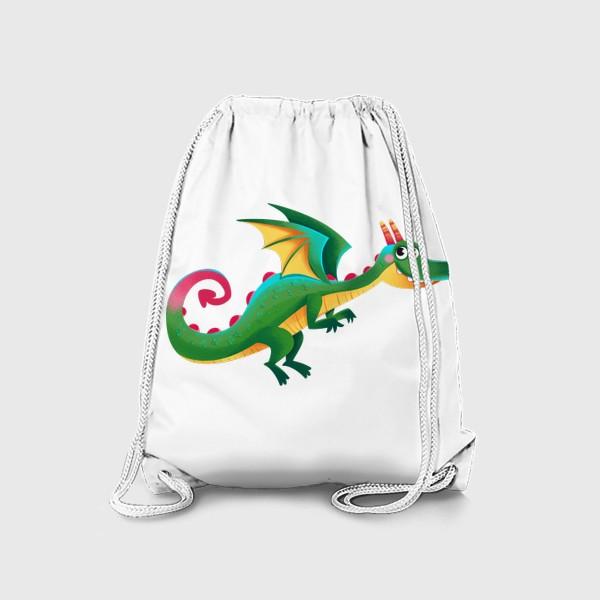 Рюкзак «Зеленый сказочный дракон»