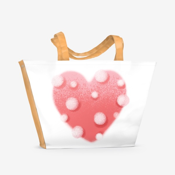 Пляжная сумка «Сердце в горошек»