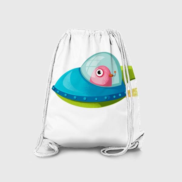 Рюкзак «нло в ракете»