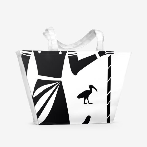 Пляжная сумка «Бог Тот. Древний Египет.»