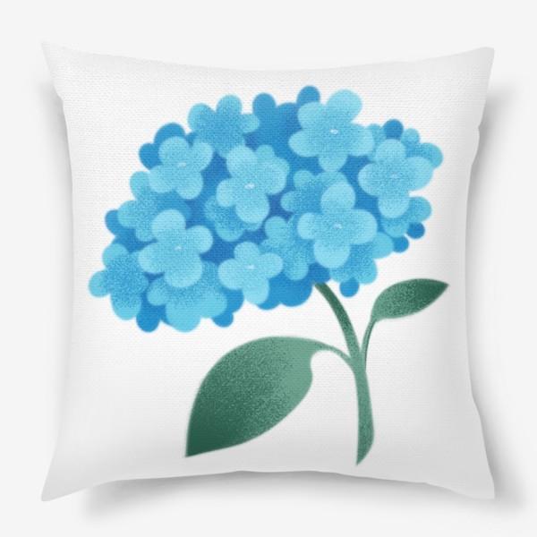 Подушка «Цветок плюмбаго»