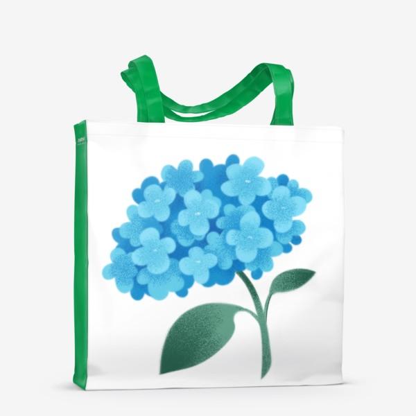 Сумка-шоппер «Цветок плюмбаго»