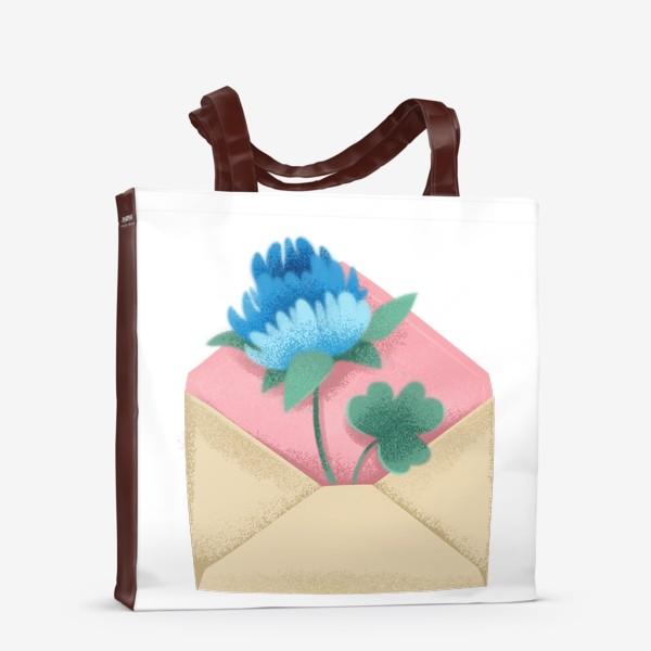 Сумка-шоппер «Конверт с цветком»