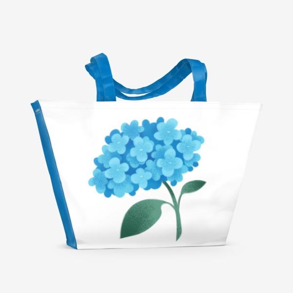 Пляжная сумка «Цветок плюмбаго»