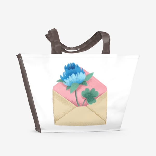 Пляжная сумка «Конверт с цветком»