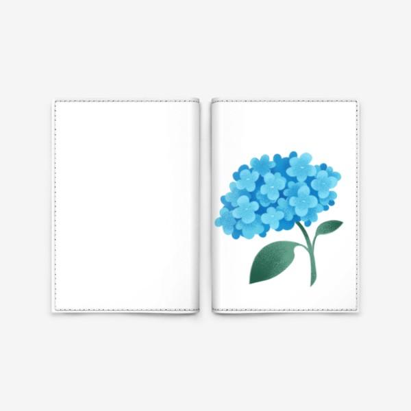 Обложка для паспорта «Цветок плюмбаго»