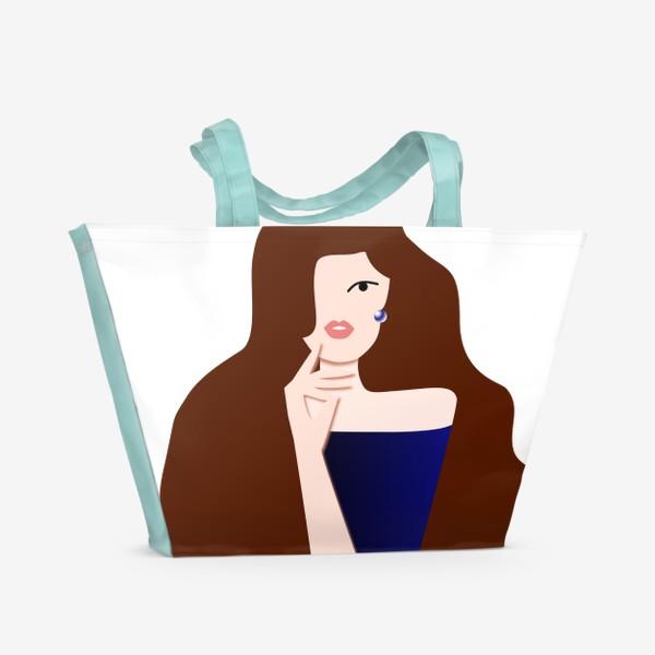 Пляжная сумка «Весеннее настроение. Для себя любимой. 8 марта. Международный женский день.»