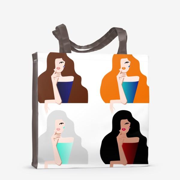 Сумка-шоппер «Весеннее настроение. Девушки бывают разные. 8 марта. Международный женский день.»