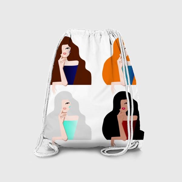Рюкзак «Весеннее настроение. Девушки бывают разные. 8 марта. Международный женский день.»
