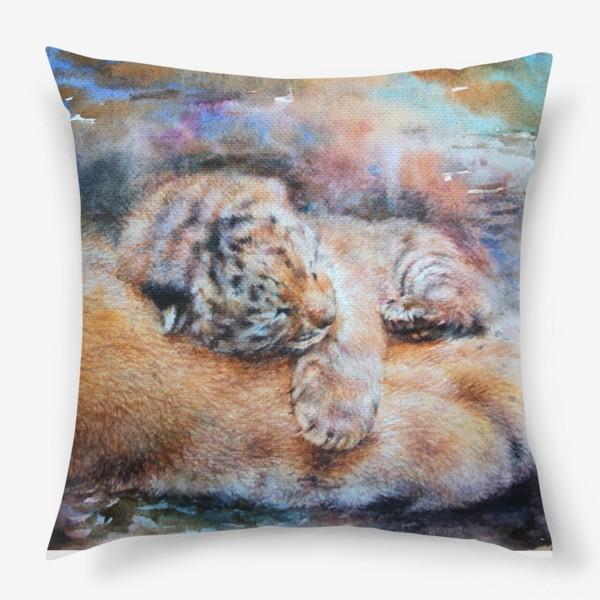 Подушка «Тигренок, тигр»