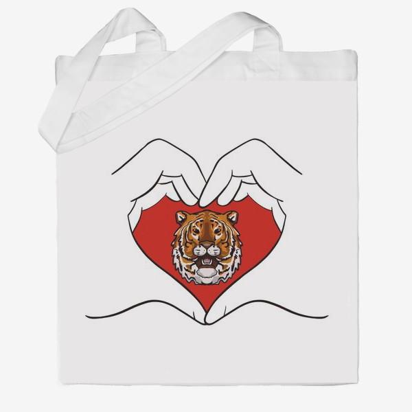 Сумка хб «Спаси амурского тигра »