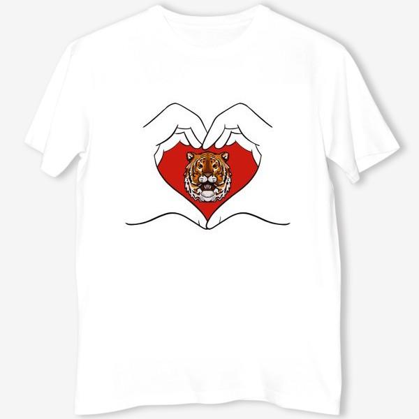 Футболка «Спаси амурского тигра »